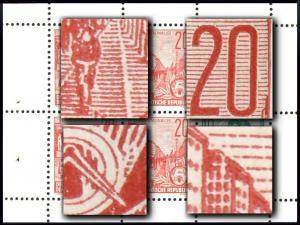 MH 3b1.46 Fünfjahrplan 1961, 1 PLF HBl. 7A, 1 PLF HBl 8A, 4 PLF HBl. 9A **