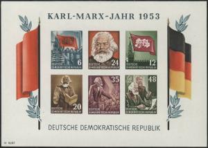Block 8B YII Karl Marx 1953 ungezähnt, postfrisch ** MNH