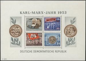 Block 9A YII Karl Marx 1953 gezähnt, postfrisch **