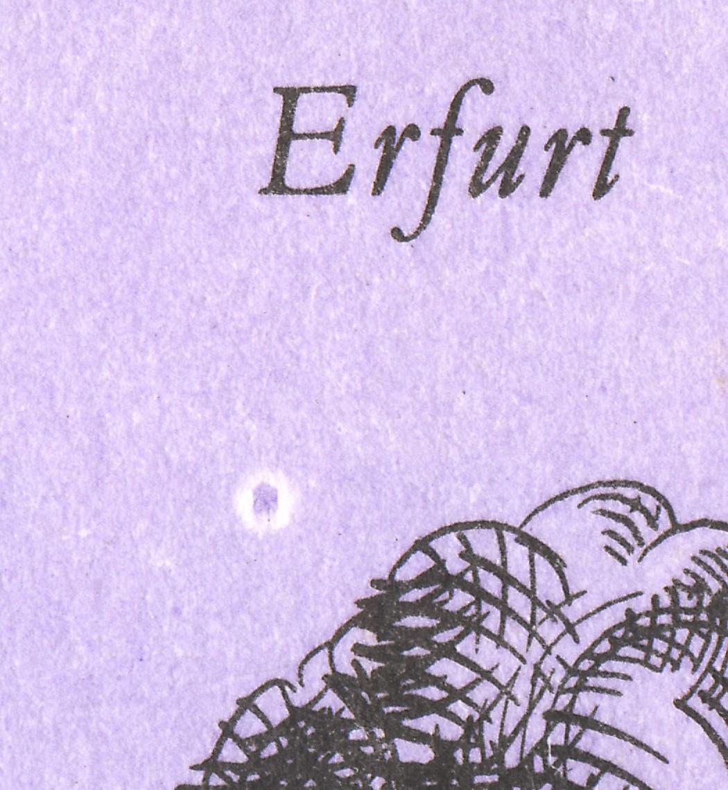 MH 10 Erfurt 1990 Naht fluoreszierend, DDF Mond unter Erfurt, ** 0