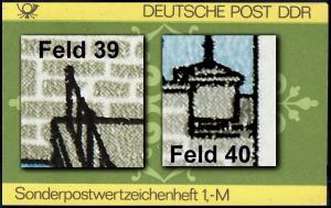 SMHD 23 Ornamente 1985 mit PLF 2972, Felder 39 und 40, **