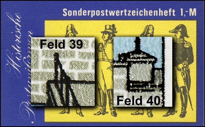 SMHD 25 II Postuniformen mit PLF 2972, Felder 39 und 40, ** 0