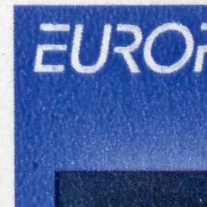 30 MH Europa/CEPT 1994, zwei PLF auf Feld 8 und 10: Punkt und Schrägstrich, **