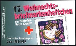 DRK/Weihnachten 1998/99 Geburt Christi 110 Pf, 5x2024 17.MH, ESSt Bonn