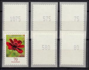 3197 Schoko-Kosmee SELBSTKLEBEND von der 5000er-Rolle - Nummern-Set **