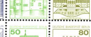 13a MH BuS 1982 Heftchenblatt mit Verzähnung bis in das Markenbild oben, **