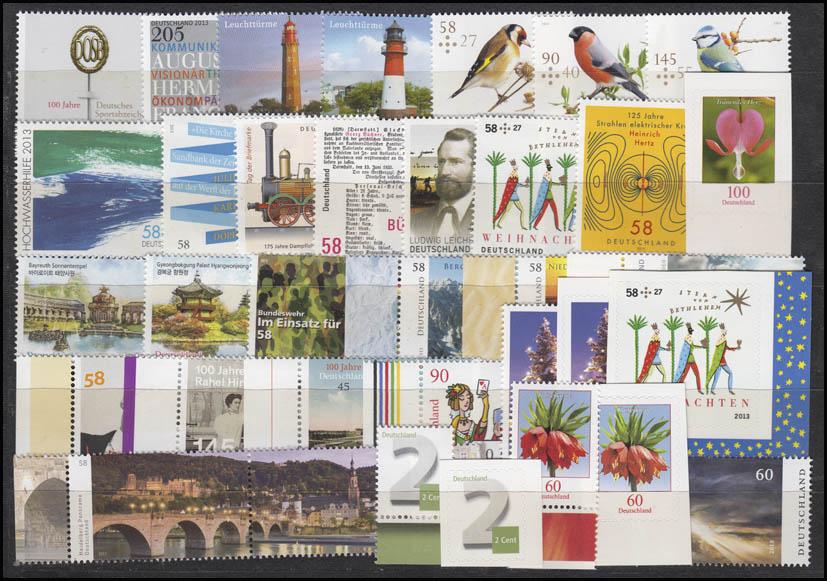 2972-3046 Deutschland Bund-Jahrgang 2013 komplett, postfrisch ** 1