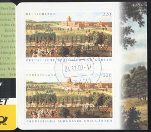 59II MH Preußische Schlösser, eckig, sauber gestempelt ARNBRUCK 4.12.2007