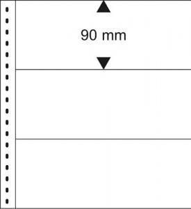 LINDNER 831 Banknoten-Klarsichthülle 3 Taschen, Zwischenblatt weiß, 10er-Pack
