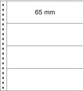 LINDNER 832 Banknoten-Klarsichthülle 4 Taschen, Zw.blatt weiß, 10er-Pack