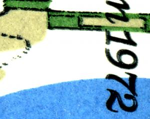 Bl.7DD Olympiastadion mit Doppeldruck der Farbe schwarz (rechtsbetont) **