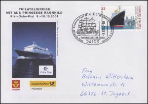 MS Prinsesse Ragnhild, Auflage 1000! Bf SSt Kiel Segelschiff Radich 8.10.2004