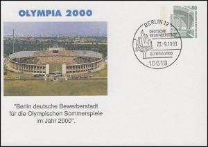 Privat-PK OLYMPIA 2000: Berlin deutsche Bewerberstadt, SSt Berlin 23.9.1993