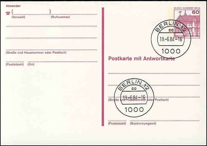 P 125 II - BuS 60/60 Pf Letterset VS-O Berlin 0