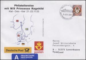 Philateliereise MS Prinsesse Ragnhild, Auflage 1000! Schiffspost 21.-23.11.2003