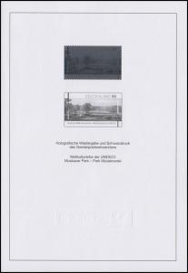 Schwarzdruck aus JB 2012 UNESCO-Weltkulturerbe Muskauer Park & Hologramm SD 35