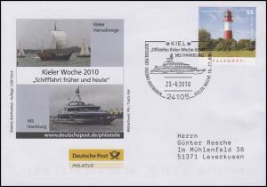 Kieler Woche Schifffahrt Hansekogge, Auflage 1300! SSt Kiel MS Hamburg 23.6.2010