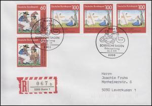 1576-1577 Sorbische Sagen, MiF R-FDC ESSt Bonn 5.11.1991