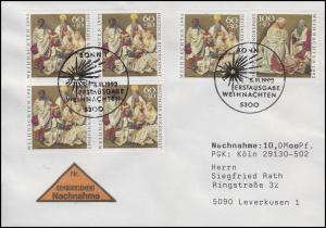 1639-1640 Weihnachten 60+100 Pf, MiF NN-FDC ESSt Bonn Weihnachtsstern 5.11.1992