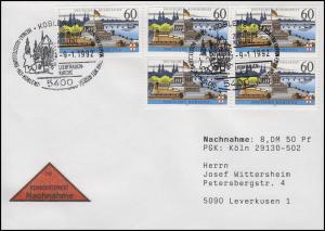 1583y Koblenz MeF NN-FDC Koblenz Ausstellung & Liebfrauen-Kirche 9.1.1992