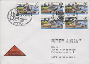 1583y Koblenz MeF NN-FDC Koblenz Heimat-Ausstellung & Liebfrauen-Kirche 9.1.1992