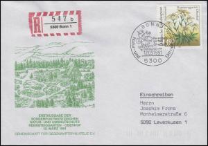 1509 Rennsteiggarten Edelweiß EF R-FDC ESSt Bonn Natur- & Umweltschutz 12.3.1991