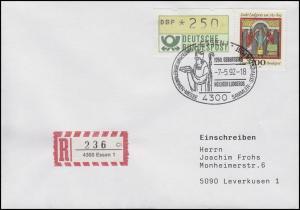 1610 Hl. Ludgerus Apostel der Friesen und Sachsen MiF R-FDC ESSt Essen 7.5.92
