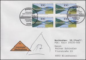 1630 Eröffnung Main-Donau-Kanal MeF NN-FDC ESSt Bonn Dampfer 10.9.1992