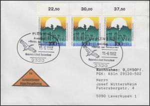 1615 Umweltschutz Rettung Regenwald MeF NN-FDC ESSt Plön Weißstorch 11.6.1992