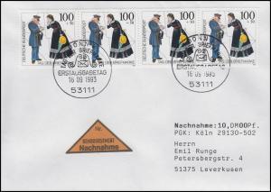 1692 Tag der Briefmarke Postbote MeF NN-FDC ESSt Bonn  31.10.93