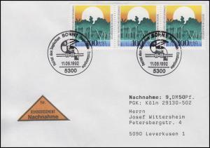 1615 Umweltschutz Rettung Regenwald MeF NN-FDC ESSt Bonn Vogel 11.6.1992