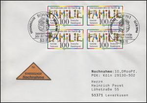 1711 Jahr des Kindes, Viererblock MeF NN-FDC ESSt Bonn Globus 13.1.1994