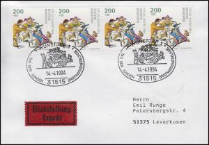 1730 Heinrich Hoffmann Zappel-Philipp 200 Pf, MeF Eil-FDC ESSt Wunstorf 14.4.94