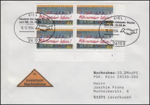 1725 Miteinander leben! ER-Vbl. FN 1 NN-FDC ESSt Kiel Türkische Woche 10.3.94