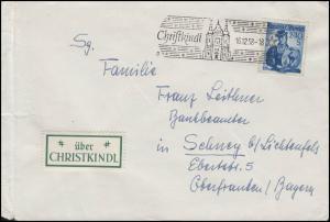Weihnachten Christkindl Bf SSt Kirche 16.12.58 mit Leitzettel über Christkindl