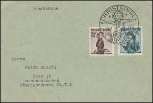 Weihnachten Christkindl Brief SSt Christi Geburt 19.12.1953 nach Wien