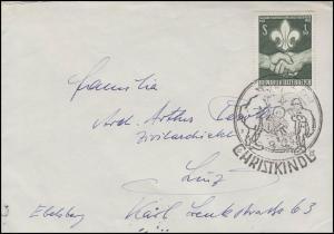 Weihnachten Christkindl Brief SSt Hirten 24.12.1962 nach Linz