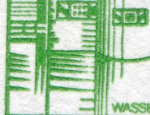 24c MH BuS 1982 - mit PLF XII, gebrochene Wasserlinien, **
