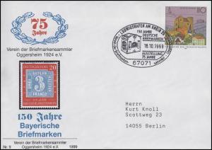 USo 5 Bayerische Briefmarken, SSt Ludwigshafen Briefkasten 16.10.1999