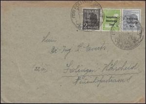182+185+186 SBZ-Aufdruck 2+10+12 Pf, Bf SSt Pöllwitz Einheit Deutschlands 1948