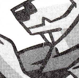 35I MH SWK 11,- DM, 50/4 mm, Deckeldruckfehler Bruch am Hals, VS-O FfM