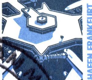 14 MH SWK 1989, 50 mm, mit PLF I: Lampe verdickt, Feld 2, VS-O Frankfurt 13.7.89