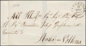 Italien Vorphilatelie Brief POMARANCE 13.7.1854 nach Massa / Volterra