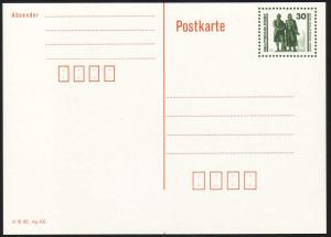P 107II Goethe/Schiller 30 Pf mit DV tiefer, waagerechter Verschnitt, postfrisch
