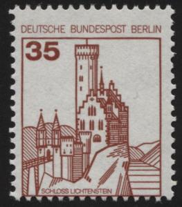 673A BuS Schloss Lichtenstein 35 Pf mit Verzähnung unten im Markenrahmen **