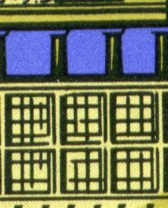 1478-1480 Berlin 1969, ZD mit PLF 1479 Fenster abgeschrägt, Feld 11, **