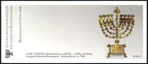 ZWStJ/Wofa 1988 Gold & Silber - Blütenstrauß 80 Pf, 5x1386, ESSt Bonn