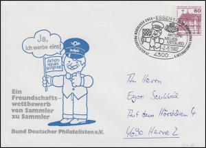PU 115 BuS 60 Pf BDPh - Aktion neues Mitglied, SSt Essen Messe BDPh 2.5.1982