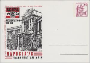 PP 102/2 BuS 50 Pf WIPA 1981 & NAPOSTA Frankfurt/Main 1978, ungebraucht
