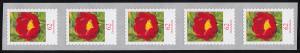 3121II Blume 62 Cent sk aus 500-Rolle 5er-Streifen, UNGERADE Nummer **